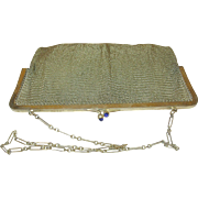 Vintage Soldered Mesh Vermeil Evening Bag 1920's