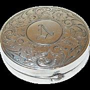 Vintage Sterling Box Chased Design