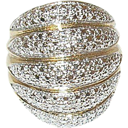 Vintage Sterling/Vermeil Ring Modernist Design
