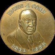 Vintage Bronze Medal Edward J. Cohn