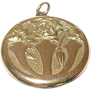 Art Nouveau Locket Gold Filled