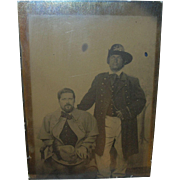 Tintype Full Plate Confederate and Union Soldier