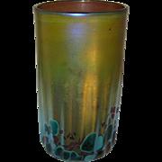 Vintage Art Glass Tumbler Signed