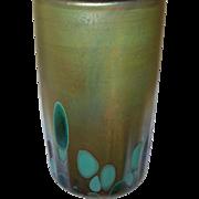 Vintage Art Glass Tumbler Iridescent