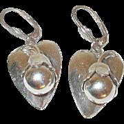 Vintage Sterling Drop Earrings Applied Design