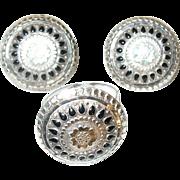 Vintage Earrings/Ring Set Sterling/Black Enamel