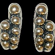 Vintage Earrings Sterling by Napier Modernist Design