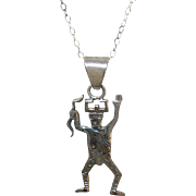 Vintage Sterling Pendant Necklace Cochina Doll