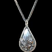 Vintage Sterling Necklace Pendant Eagle Signed