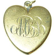 Vintage Gorham Sterling/Vermeil Heart Locket