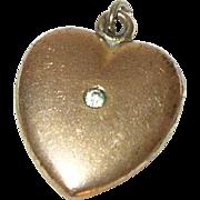 Vintage Gold Filled Heart Locket Charm/Pendant