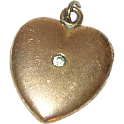 Vintage Gold Filled Heart Locket Charm/Pendant