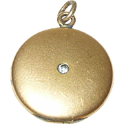 Vintage Gold Filled Locket Pendant