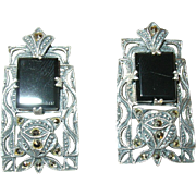 Vintage Sterling Earrings Marcasite by Judith Jack