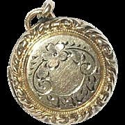 Vintage Gold Filled Locket Pendant Chased Design