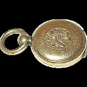 Edwardian Gold Filled Locket Pendant Chased Design