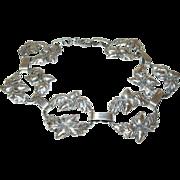 Vintage Sterling Link Bracelet Acorn Design by Dane Craft
