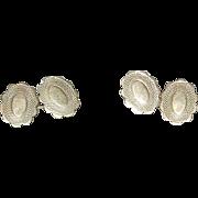 Vintage Gold Filled Cuff Links Chased Design