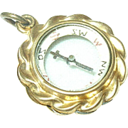 Edwardian Gold Filled Compass