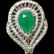 Vintage Sterling Ring Semi precious Stones