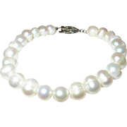 Vintage Bracelet Sterling Cultured Fresh Water Baroque Pearls