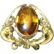 Edwardian Brooch Gold Filled