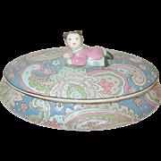 Vintage Oriental Porcelain Tureen Figural Final
