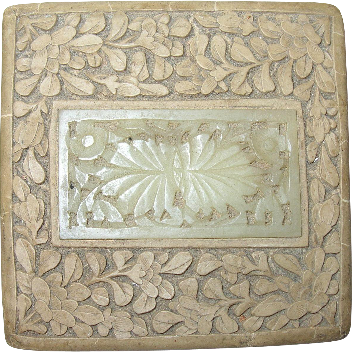 Decorative Box Lid : Vintage decorative box china jade lid from robbiaantique