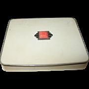 Art Deco Cigarette Case Coral Marcasite