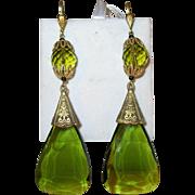 Vintage Czechoslovakian Drop Earrings
