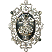Vintage Taxco 865 Coin Silver Brooch by J.P.L