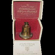 Coronation Souvenir Brass Bell Queen Elizabeth II