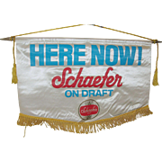 Vintage Schaefer Beer Advertising Flag