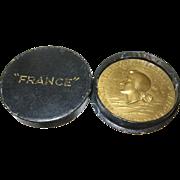 Vintage Bronze Medal Transatlantic 1962 France