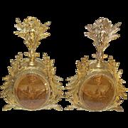 Vintage Perfume Bottles Dove Cherub Design