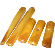 Vintage Bakelite Cigarette Holders 5 Pc