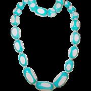 Vintage Necklace Bracelet Set Early Plastic
