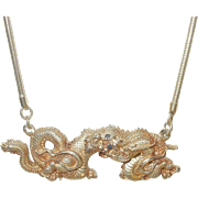 Vintage Dragon Pendant Necklace by MMA