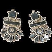 Victorian 14K Black Onyx Earrings