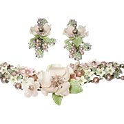 Vintage Earring Bracelet Set by Colleen Toland