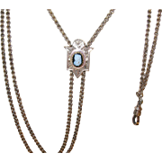 """Victorian Gold Filled Box Chain Slide 50"""""""