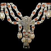 Vintage Czechoslovakian Festoon Necklace