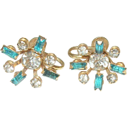 Vintage Rhinestone Earrings by NB