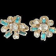 Vintage Rhinestone Earrings by NB