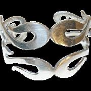 Vintage Sterling Modernist Cuff Bracelet