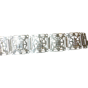 Vintage Bracelet Sterling Paris Souvenir Links