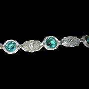 Vintage Filigree Link Bracelet 1920's