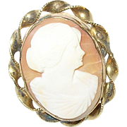 Vintage Gold Filled Shell Cameo
