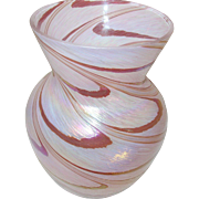 Vintage Iridescent Art Glass Vase