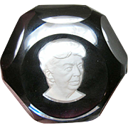 Vintage Baccarat Paper Weight Eleanor Roosevelt